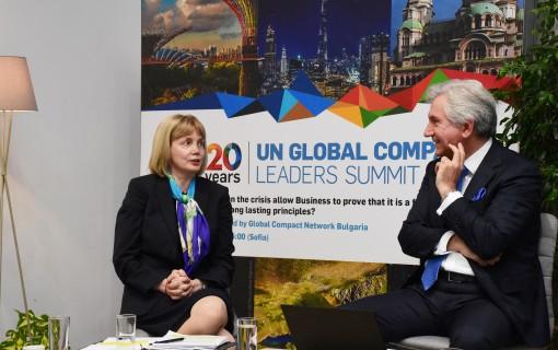 Трета част от сесията на Българската мрежа по  време на Виртуалния Форум на лидерите